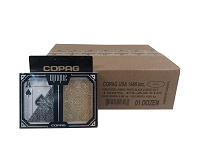COPAG UNIQUE Black Gold - 12 Dual Decks - Jumbo Index - Poker Cards
